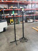 Qty 2 - Industrial metal parts racks.