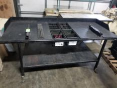 Industrial work table. 84x35x39. LxWxH.