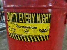 Eagle 921-FL. 21-Gallon Oily waste can.