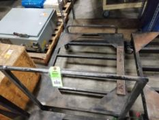 """Industrial work cart. 38x47x51. Overall LxWxH. Base is 13"""" off of floor."""