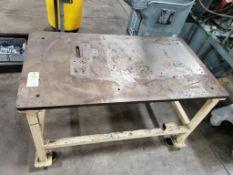 Industrial steel top welding work table. 54x30x32. LxWxH.