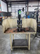 """Multicyl pneumatic press on table. 74""""Lx54""""H."""