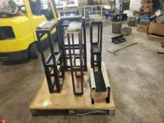 "Qty 5 - Parts / fixture work tables. 38""Hx17""W."