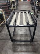 Industrial rolling cart with single layer roller top. 29x48x36. LxWxH.