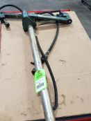 Cooper Cleco SBA-18-AH Balance arm fixture. Air operated drill fixture attached.
