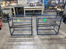 Qty 2 - Two-level roller racks. 39x19x33 each. LxWxH.
