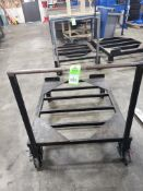"""Industrial work cart. 36x46x40. Overall LxWxH. Base is 12"""" off of floor."""