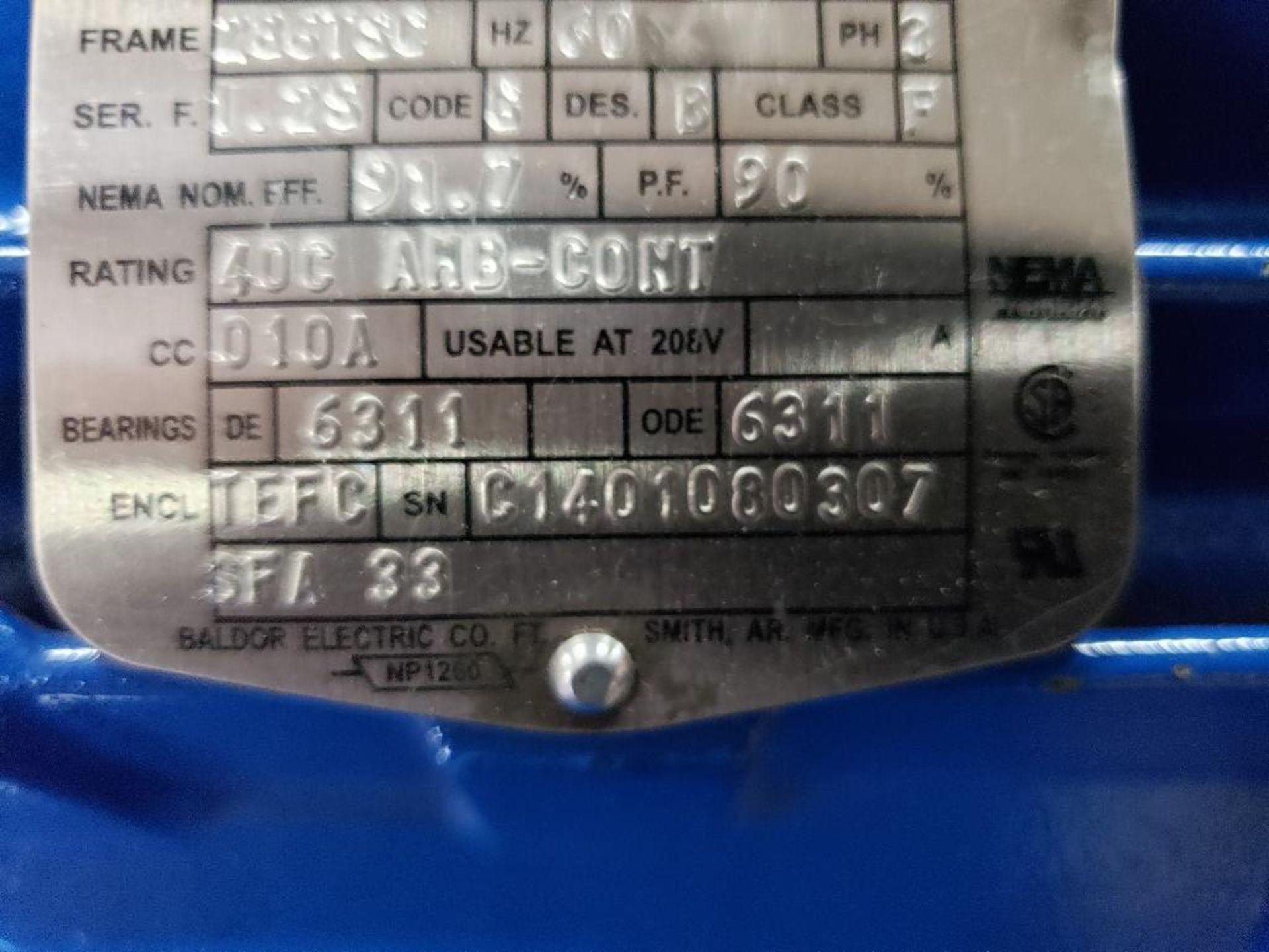 30HP Baldor Reliance 3PH motor. 2013000110. 575V, 3520RPM, 286TSC-Frame. - Image 6 of 12