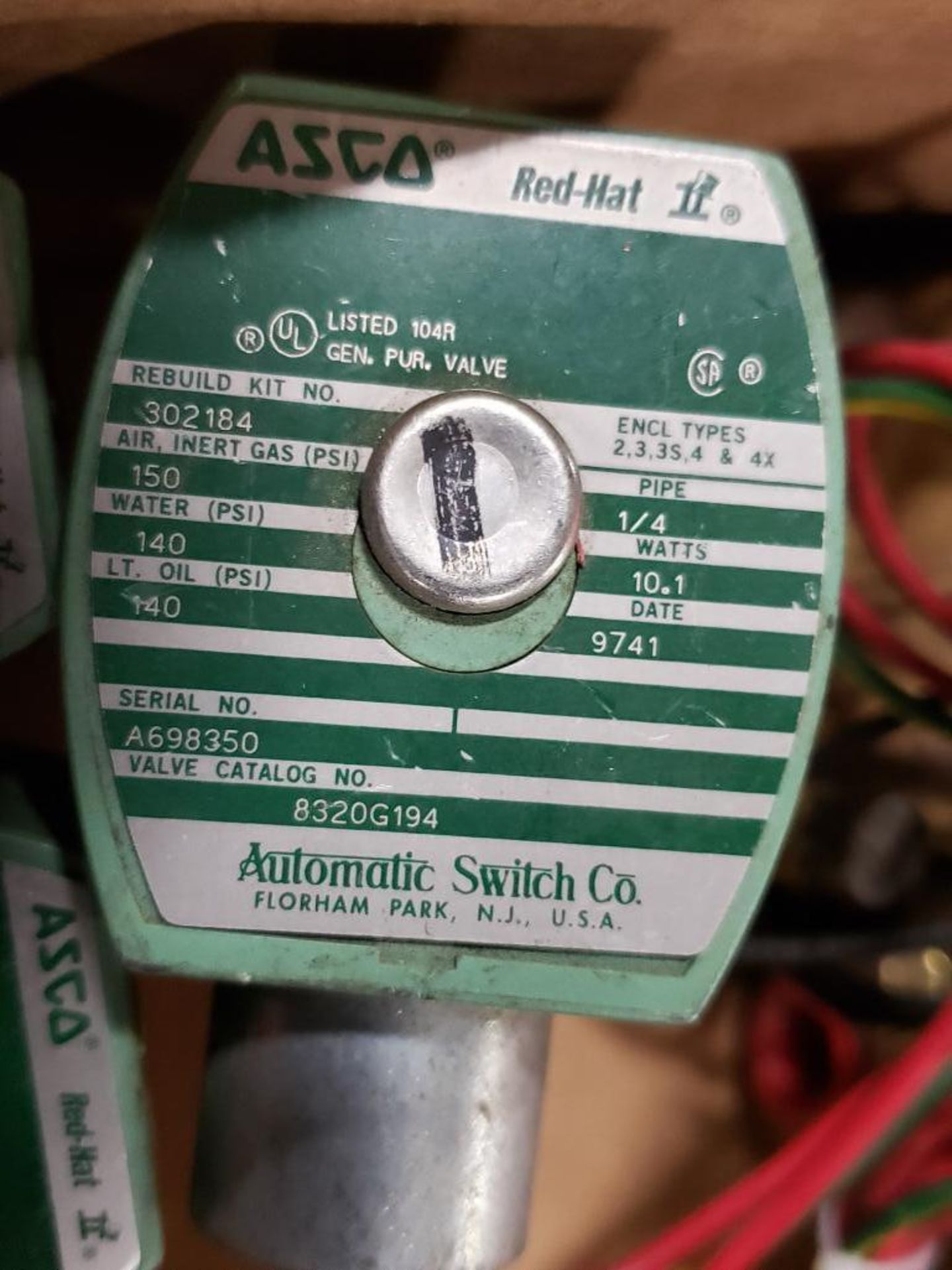 Qty 6 - Assorted ASCO solenoid coil. - Image 6 of 8