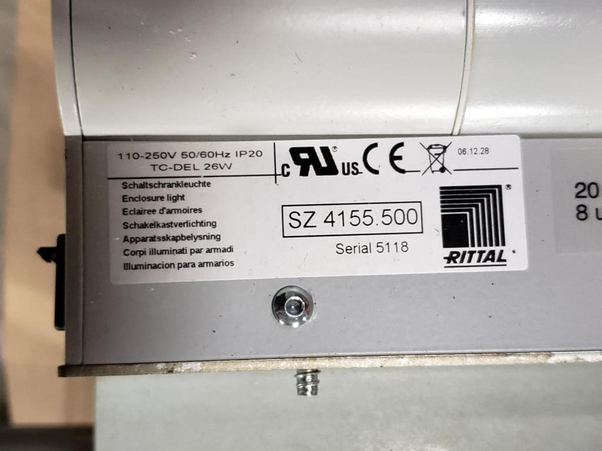 Rittal SZ-4155.500 Universal cabinet light with motion detector. Cord included. - Image 2 of 3