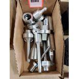 Assorted piston parts.