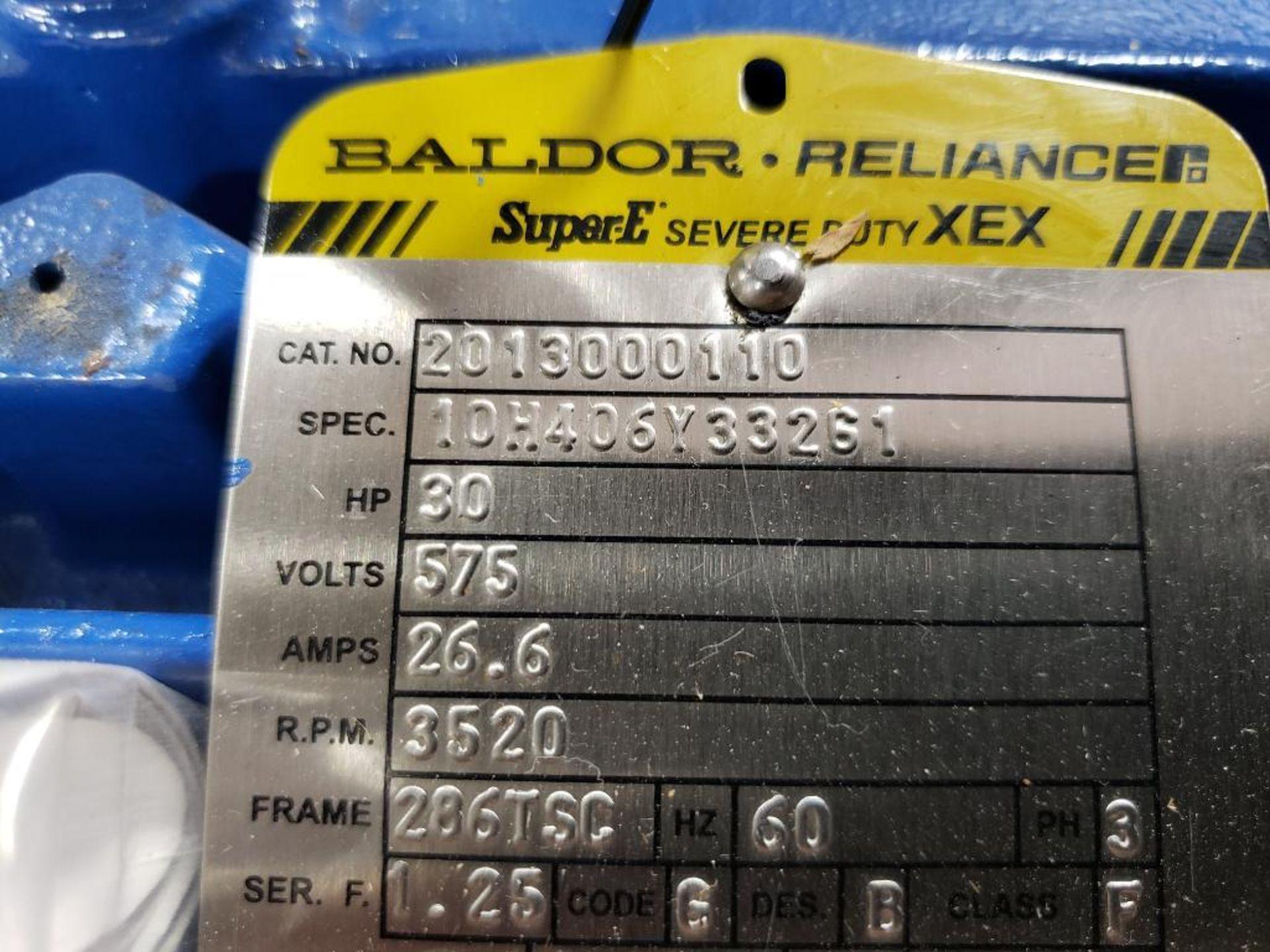 30HP Baldor Reliance 3PH motor. 2013000110. 575V, 3520RPM, 286TSC-Frame. - Image 3 of 6