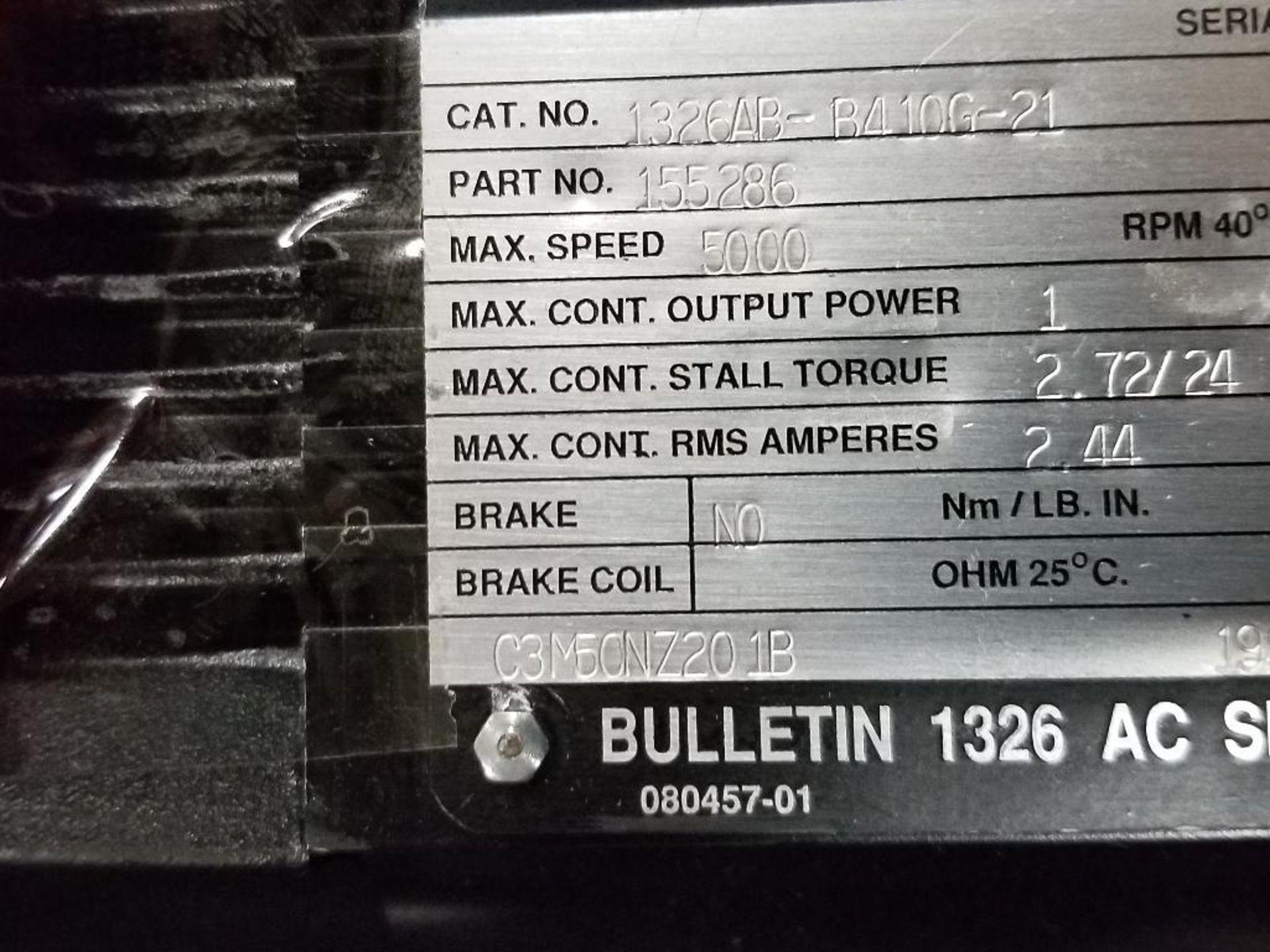 1kW Allen Bradley servo motor. Cat# 1326AB-B410G-21, Part# 155286, 5000RPM. - Image 6 of 6
