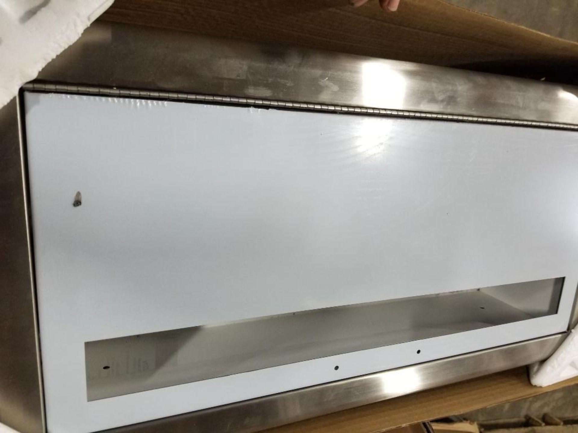 JL Industries C1037V10FX Metal extinguisher cabinet.
