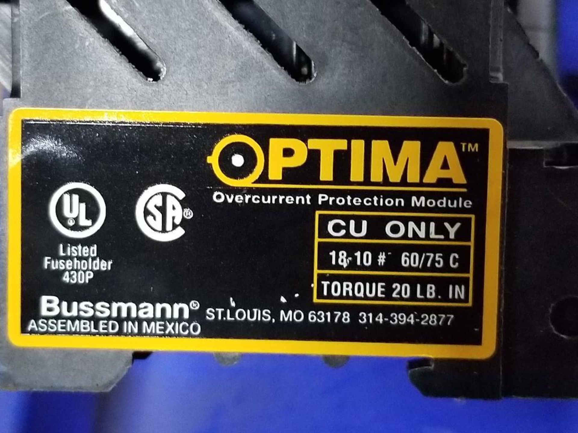 Assorted Bussmann Optima overcurrent protection module. - Image 7 of 7