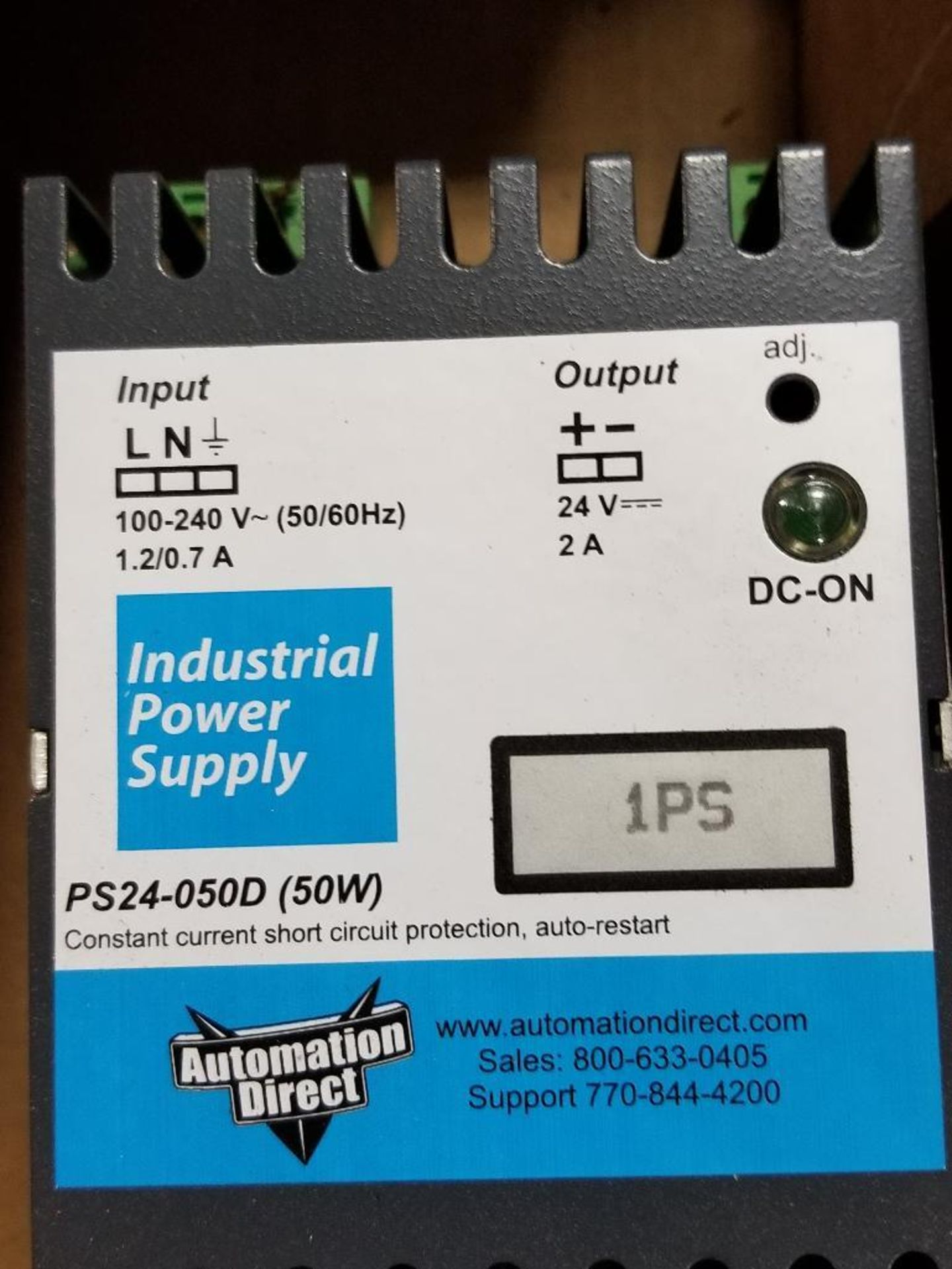 Assorted electrical power supply. Condor, PerkinElmer, Automation Direct. - Image 2 of 6