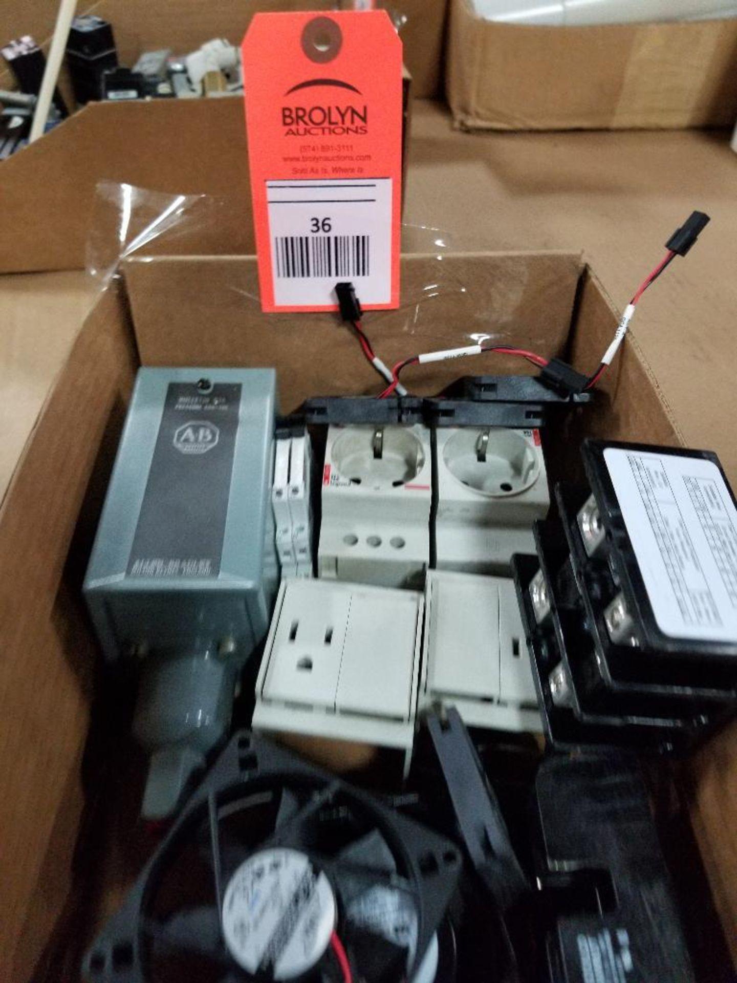 Assorted electrical. Allen Bradley, ADDA, Dayton, Sunon, Legrand.