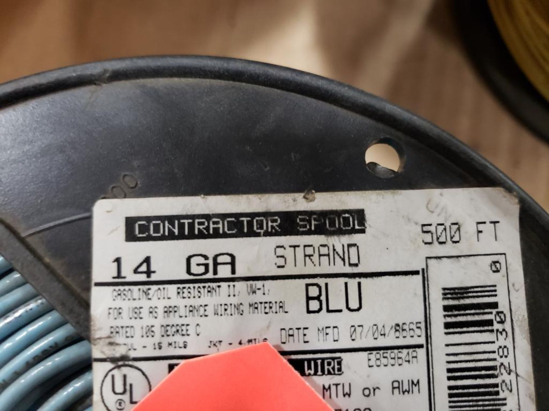 Qty 4 - Spool of contractor wire. 14-Yellow, 14-Blue. - Image 5 of 6
