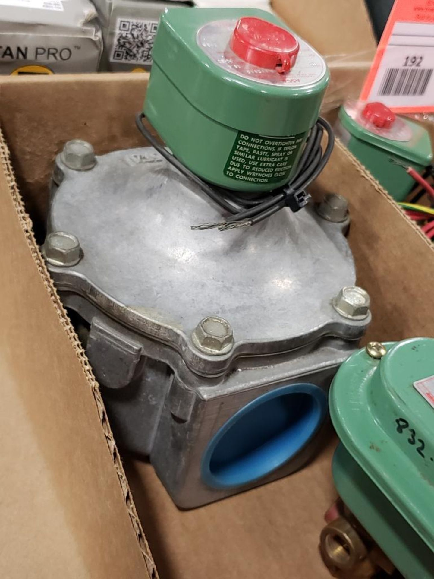 Qty 2- Assorted ASCO solenoid with valve body. - Image 3 of 7