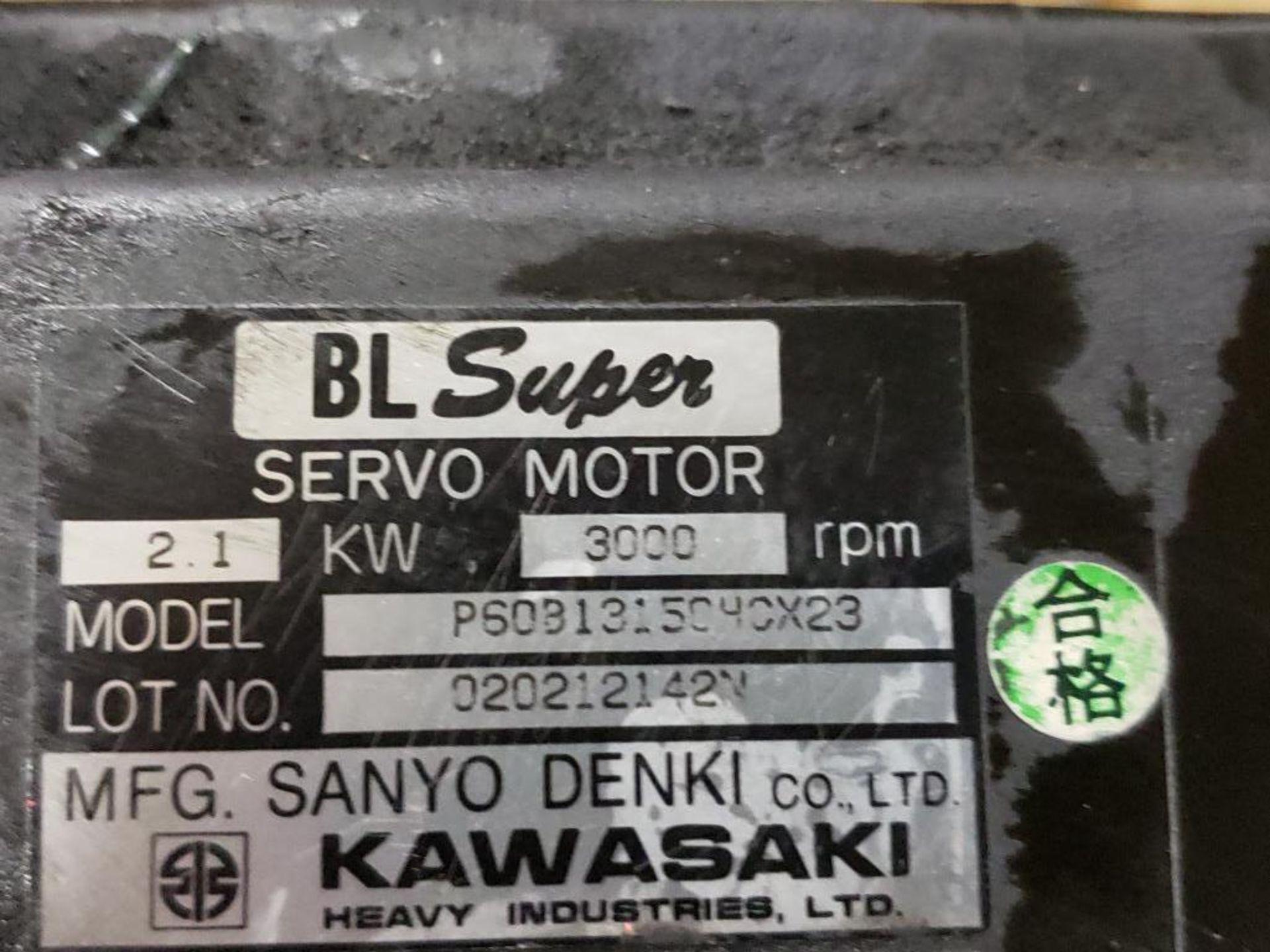 2.1kW Kawasaki Servo Motor P60B13150HCX23. 3000RPM. - Image 2 of 4