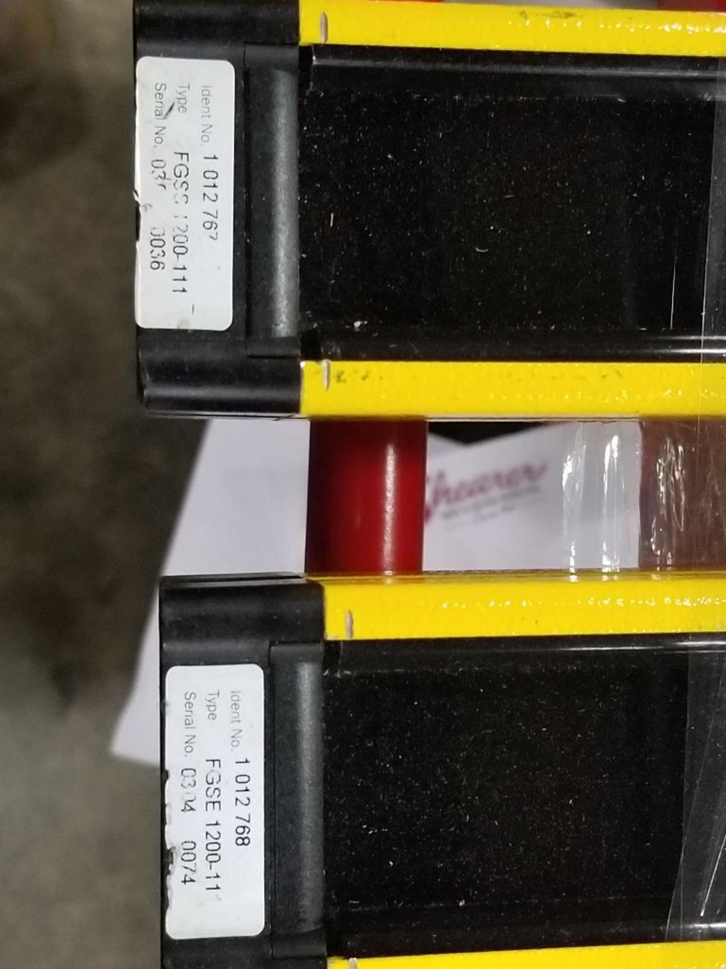 SICK Light curtain transmitter / receiver set. 14-FGS 1-012-767, 1-012-768. - Image 3 of 10