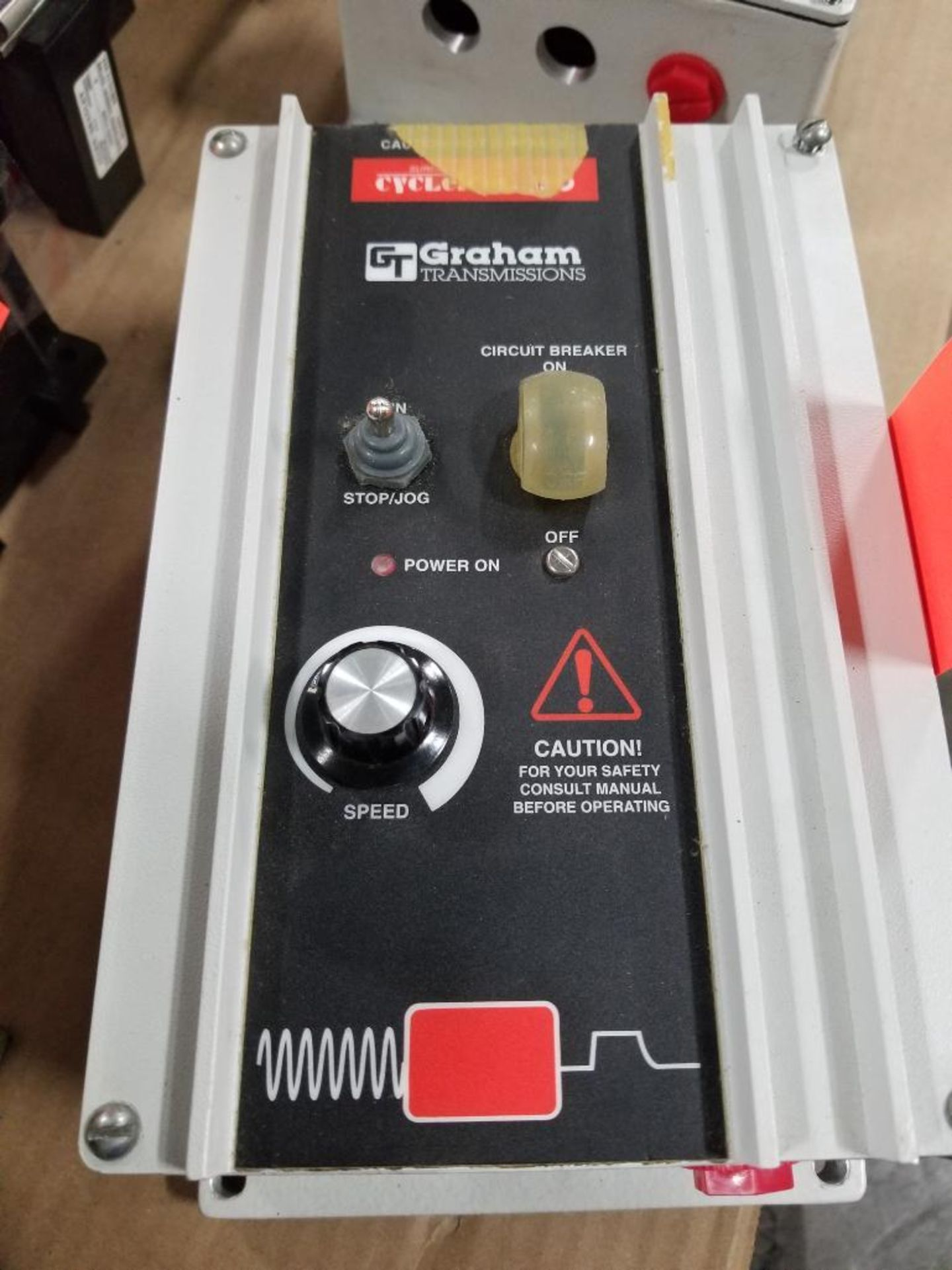 Graham Transmissions Cycletrol 150 DC motor controller. 176B6003. Marked repaired.
