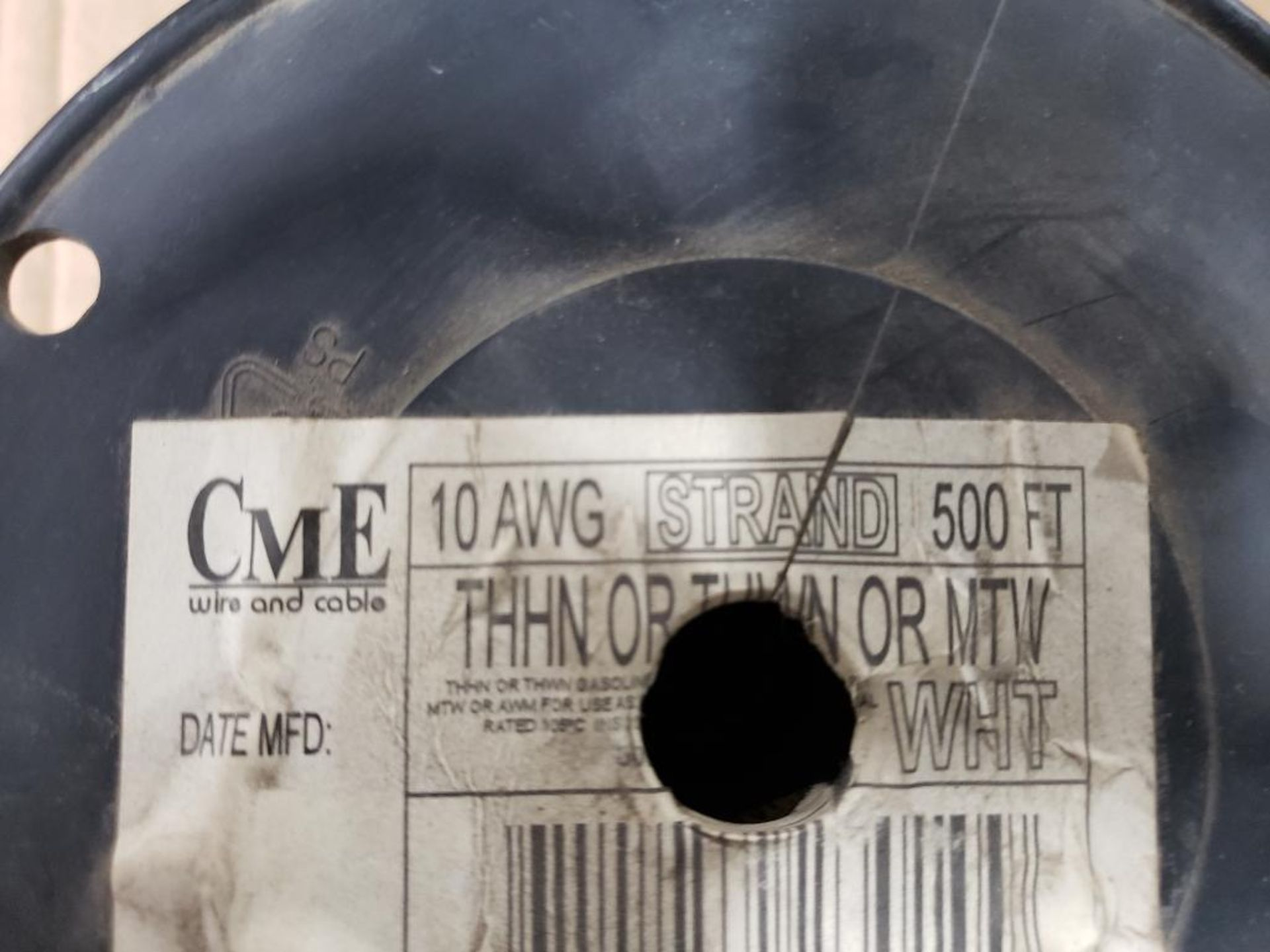 Qty 3 - Spool of ESSEX contractor wire. 12-RED THHN stranded, 10-WHITE. - Image 3 of 6