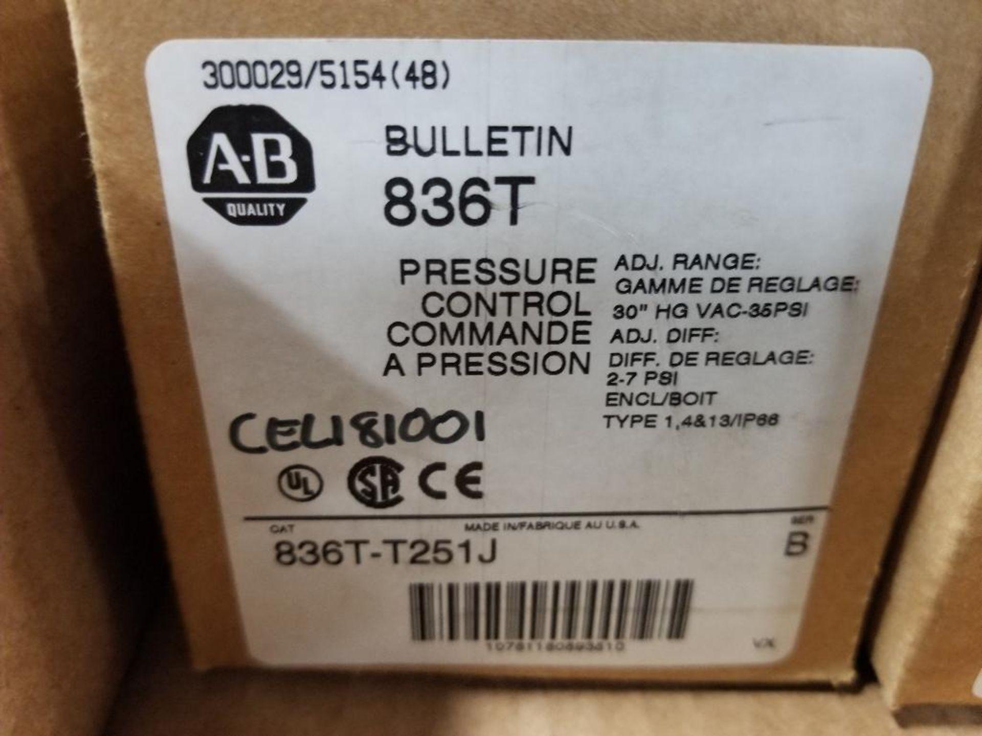 Qty 2 - Allen Bradley 836T-T251J Pressure Control. New in Box. - Image 2 of 3