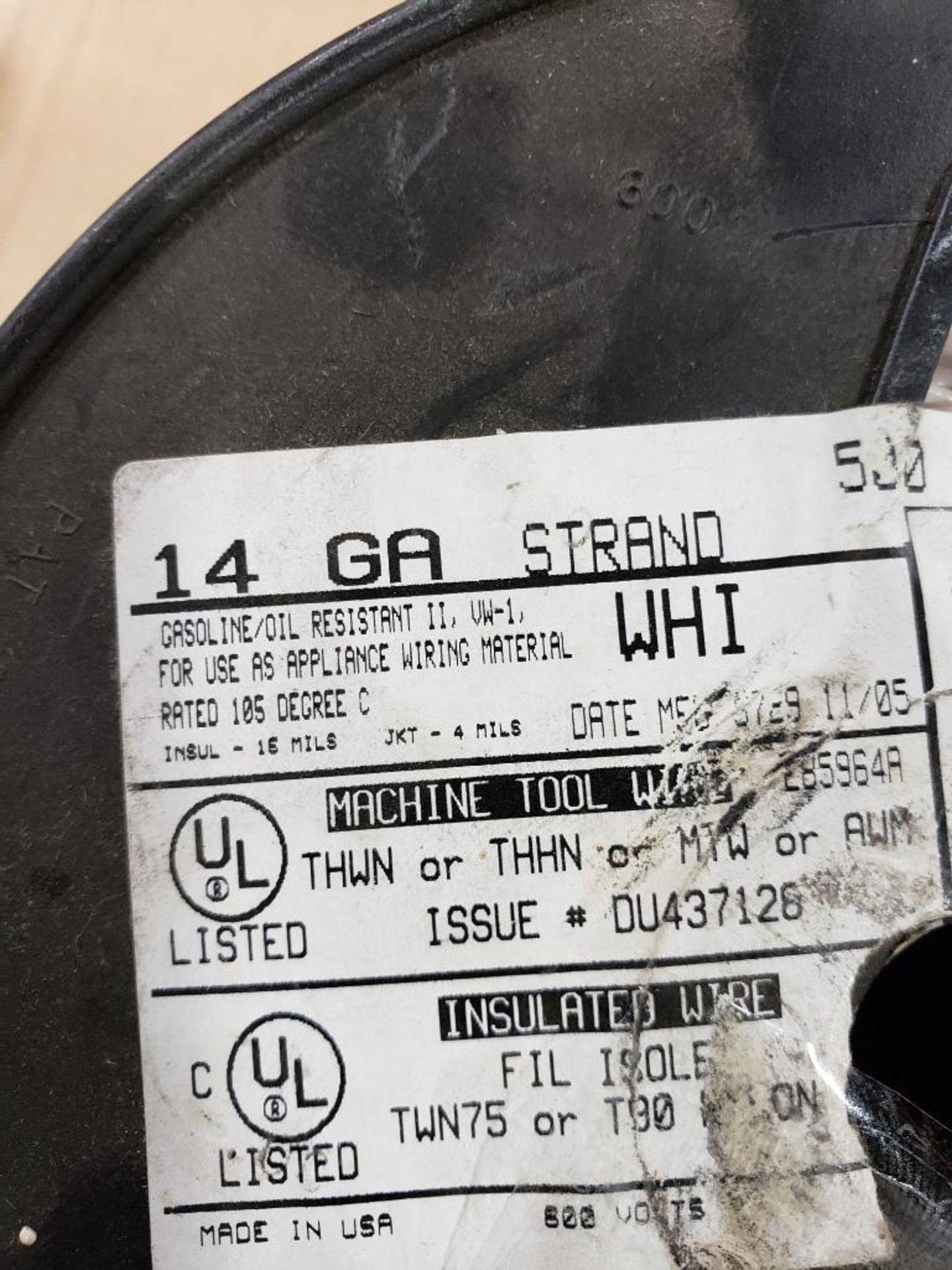 Qty 4 - Spool of CME contractor wire. 14AWG-BLACK, 14GA-BLACK. - Image 3 of 6