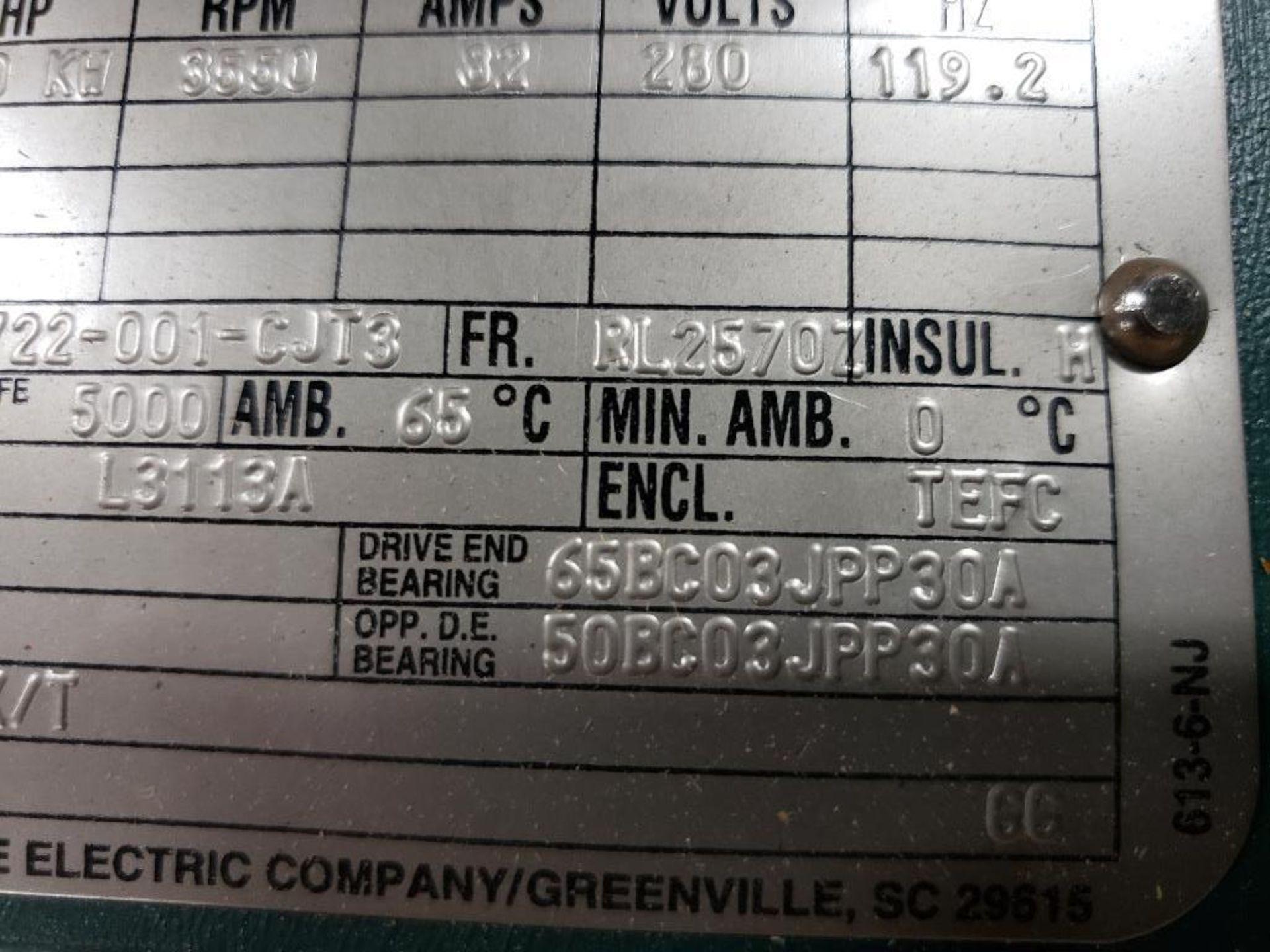 30kW Siemens 3PH Motor. 6986722-001-CJT3. 280V, 3550RM, RL2570Z-Frame. - Image 5 of 10