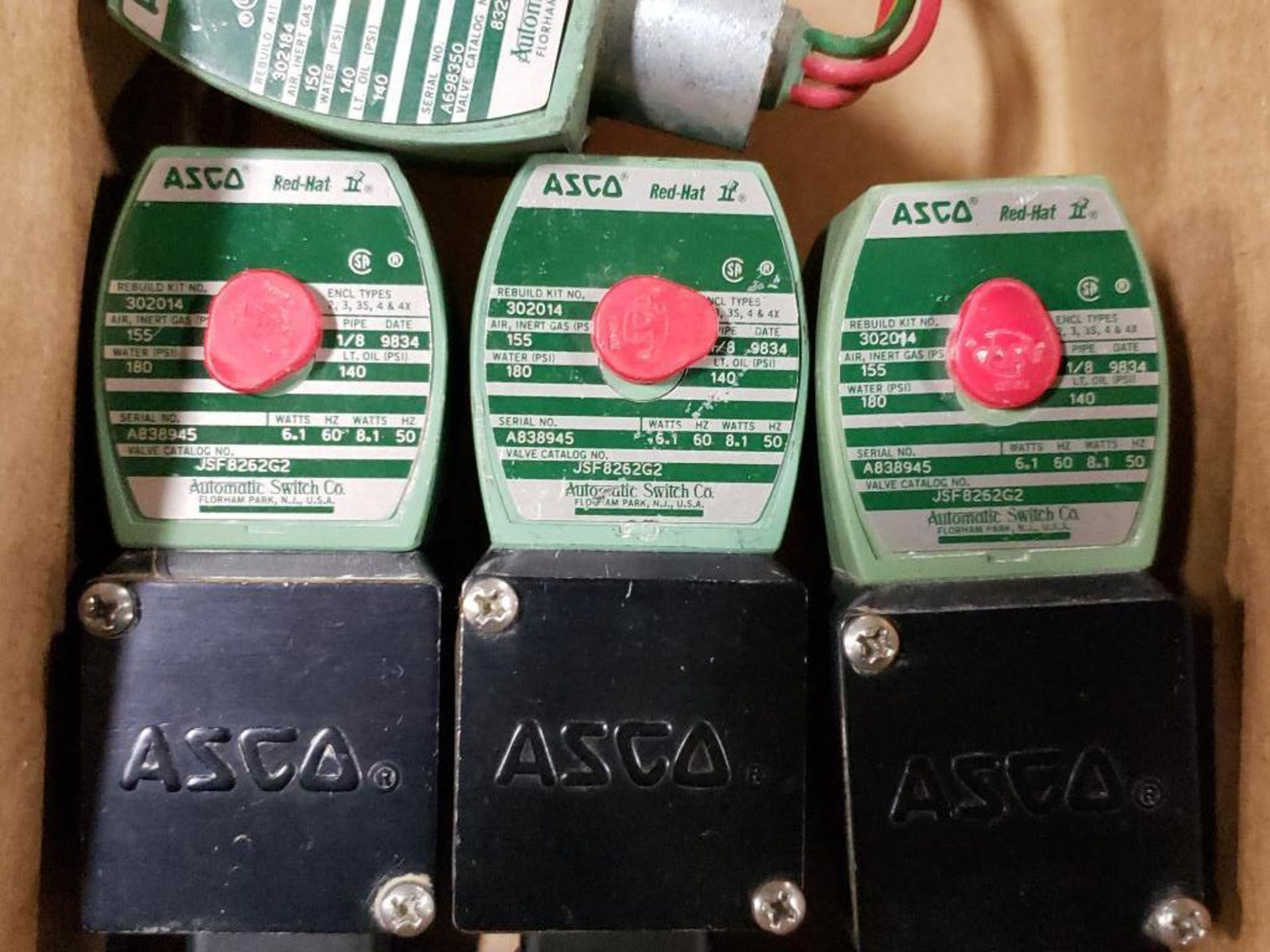 Qty 6 - Assorted ASCO solenoid coil. - Image 2 of 8