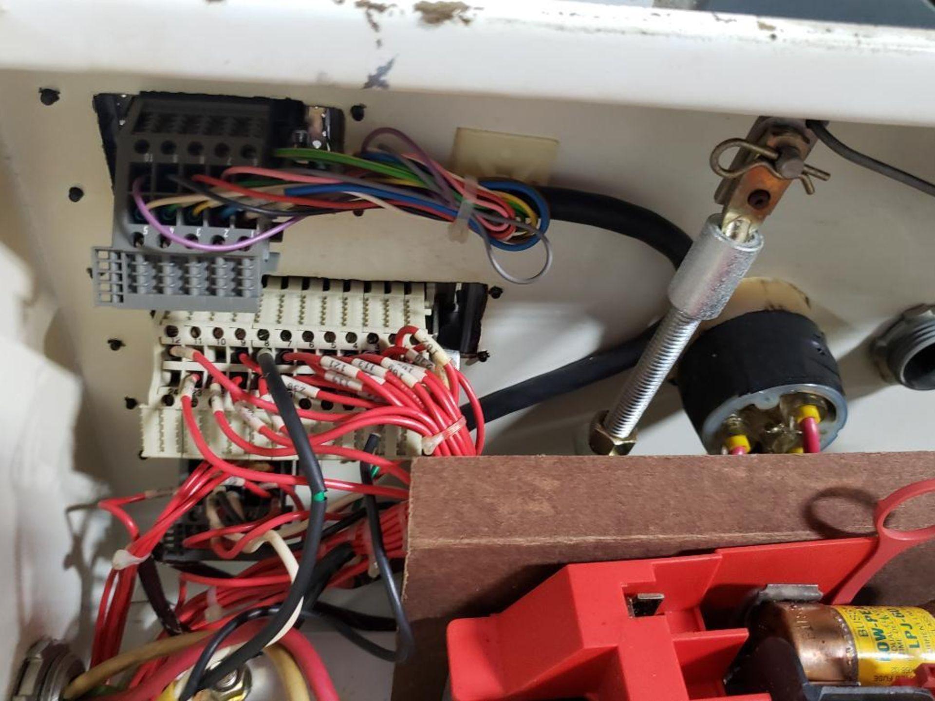 Chiller control cabinet. Hoffman enclosure, Cutler Hammer AF93AG0B007D drive, Allen Bradley drive. - Image 27 of 35