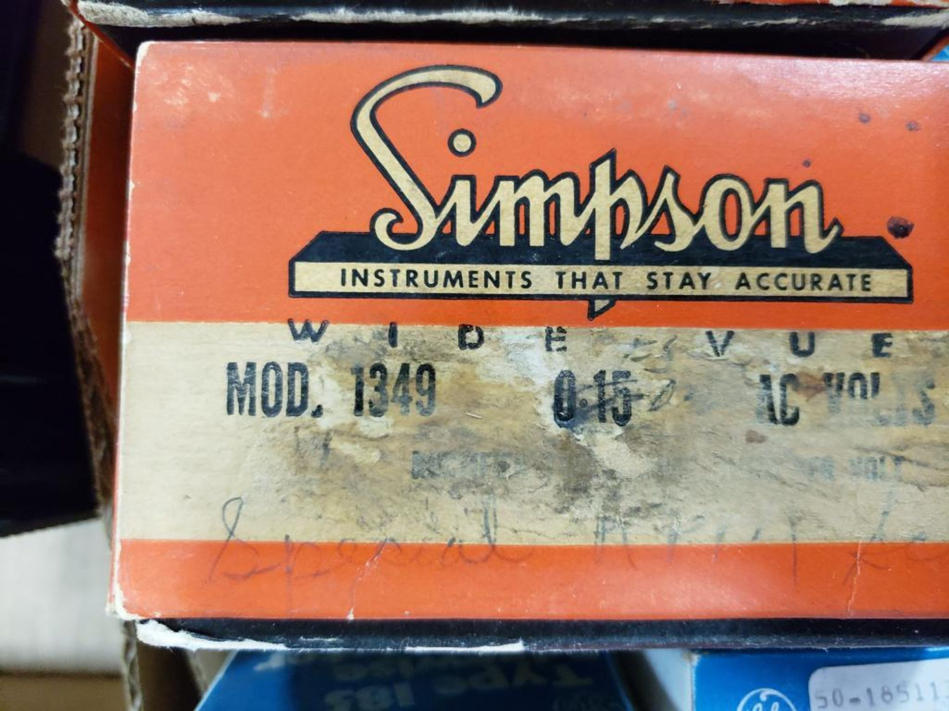 Assorted panel meters. Simpson, Panel Meter. - Image 4 of 12