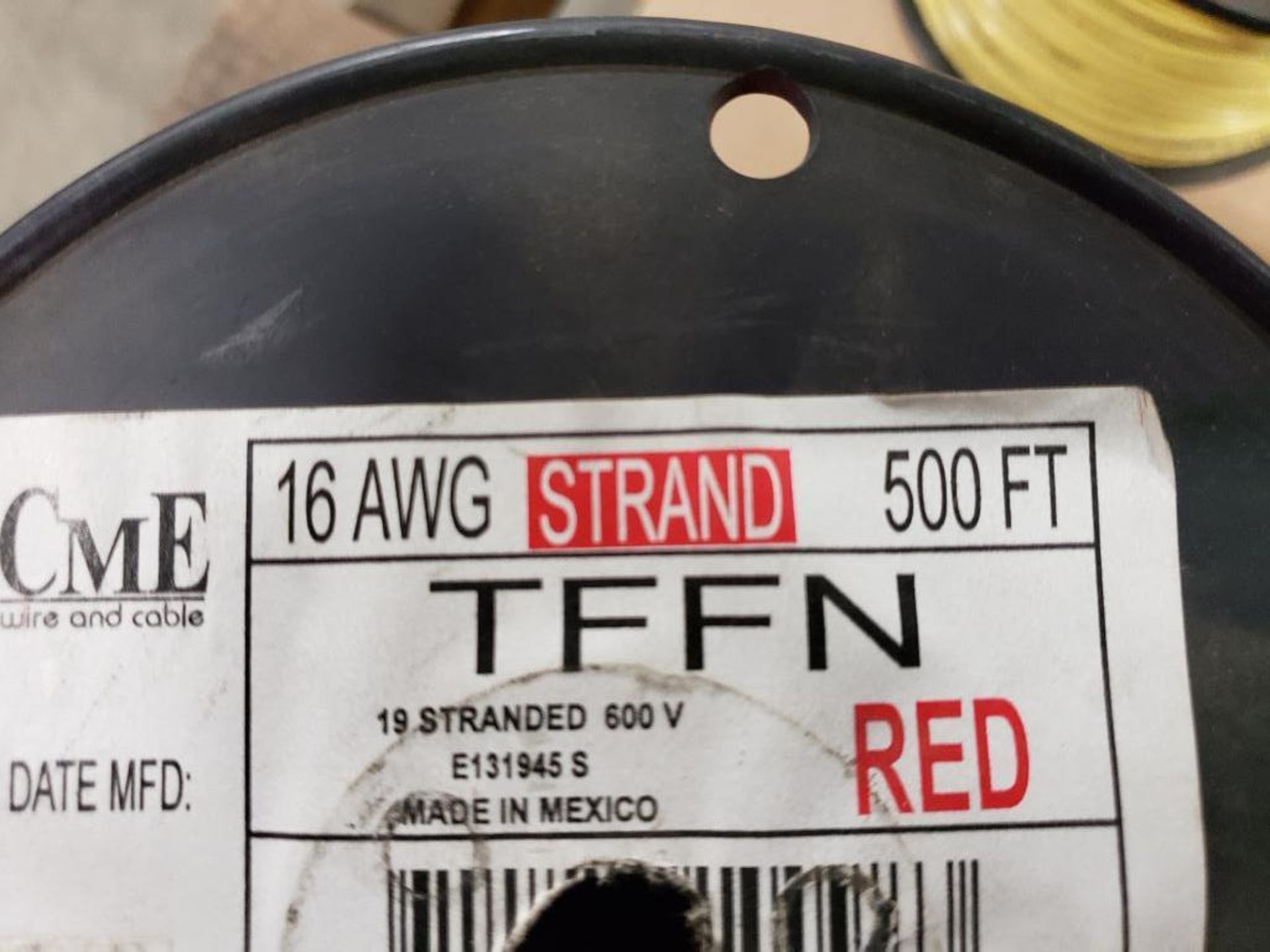 Qty 4 - Spool of CME contractor wire. 16-RED TFFN, 16-WHITE TFFN. - Image 2 of 5