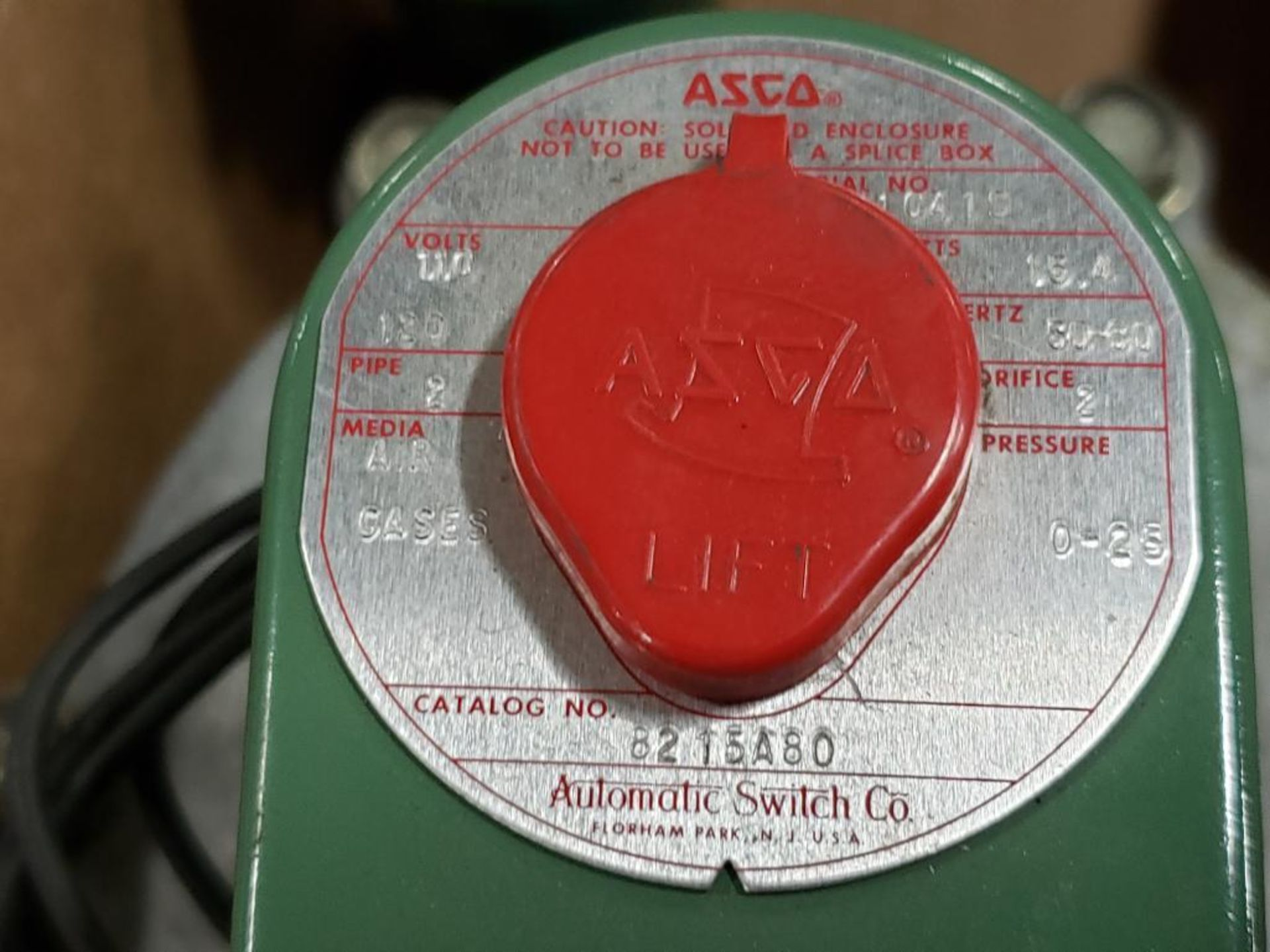 Qty 2- Assorted ASCO solenoid with valve body. - Image 5 of 7