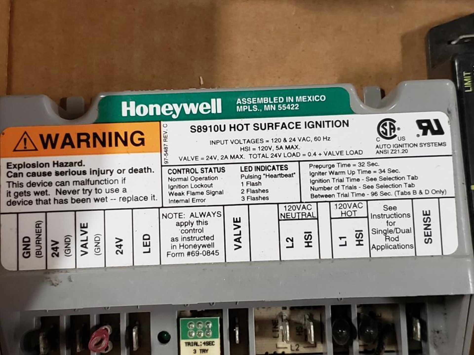 Qty 5 - Assorted electrical. Honeywell, White-Rodgers, A-1 Components. - Image 2 of 7