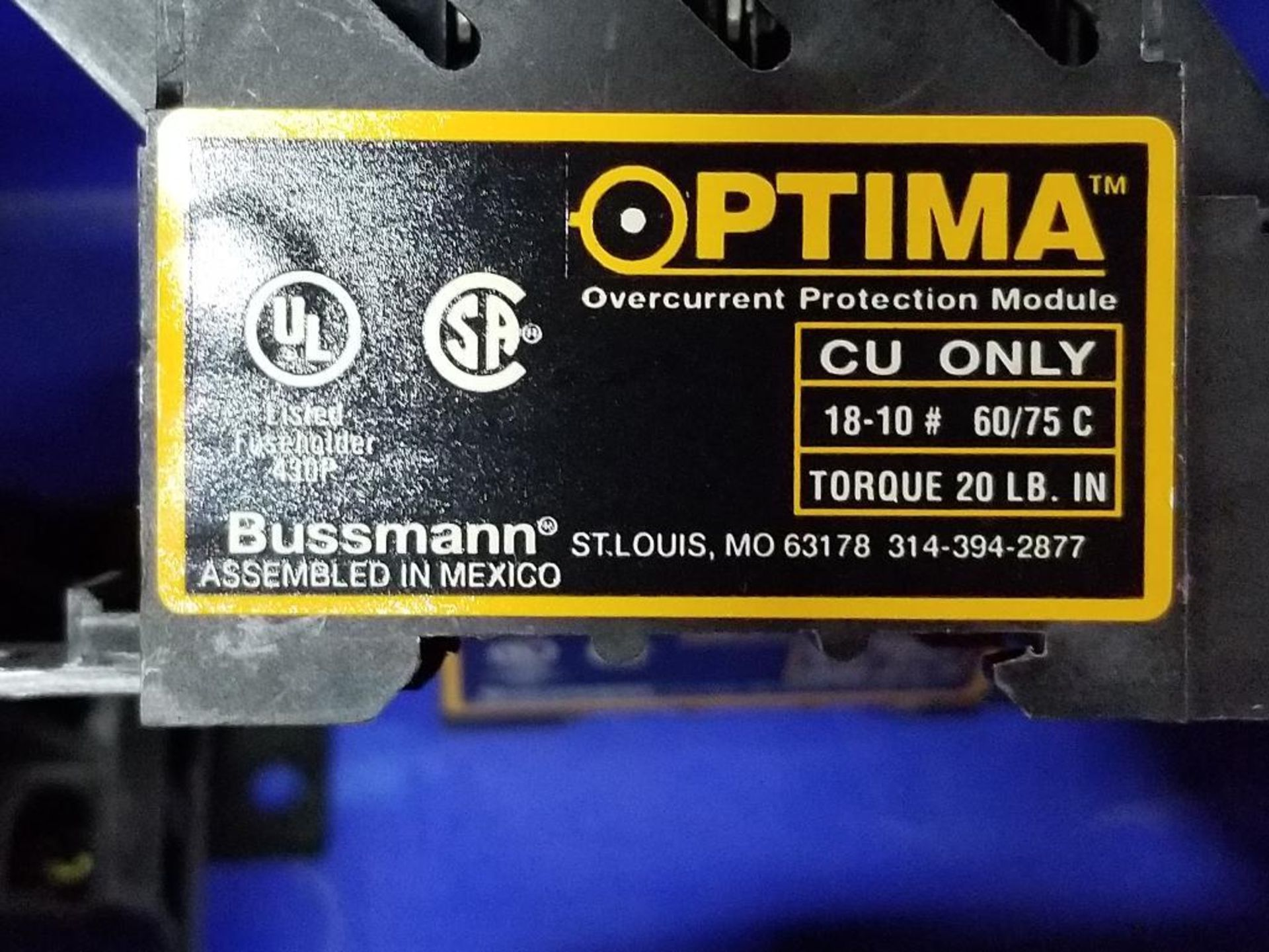 Assorted Bussmann Optima overcurrent protection module. - Image 6 of 7