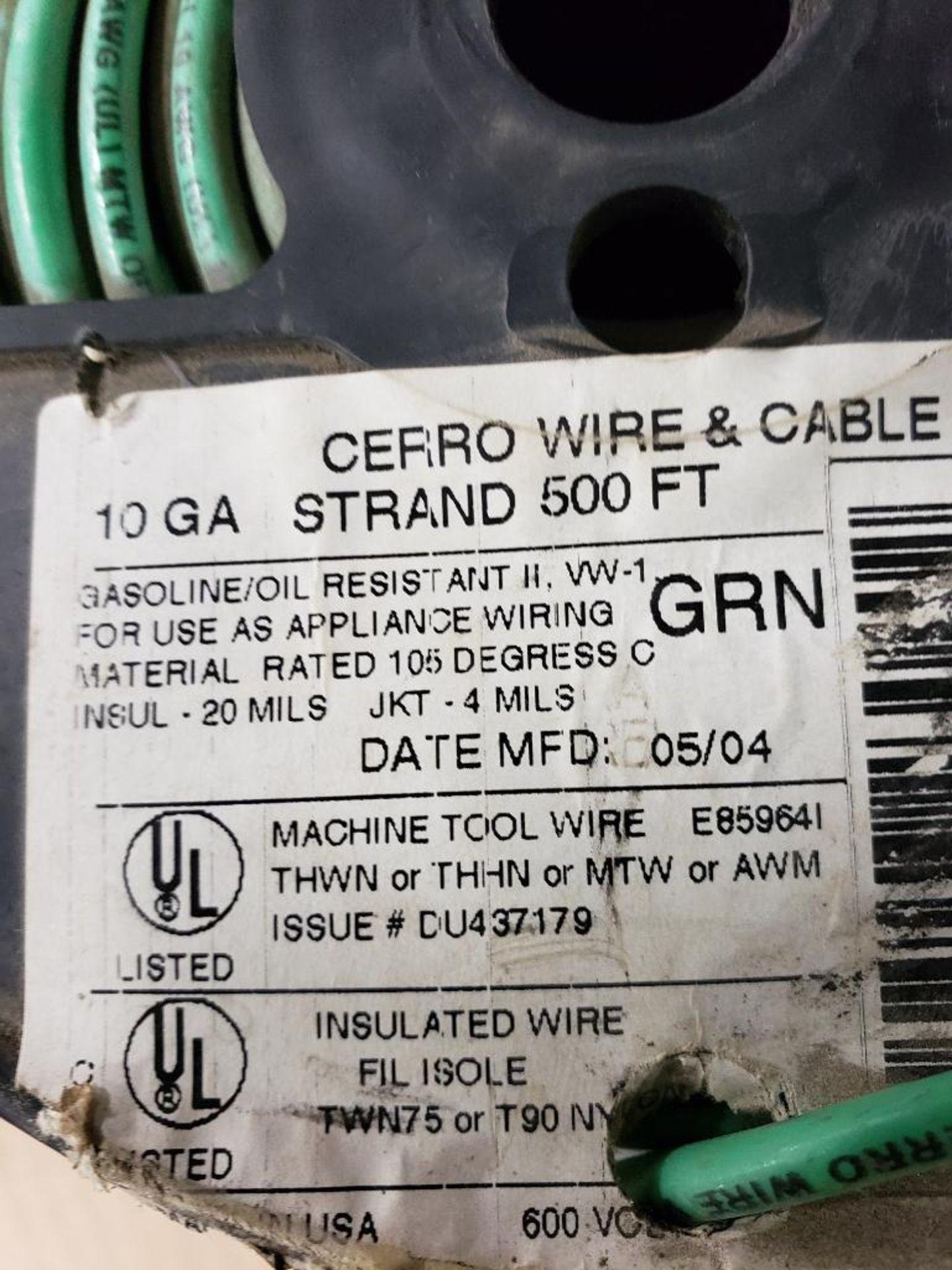 Qty 3 - Spool of CERRO contractor wire. 10GA-Black, 10GA-Green. - Image 4 of 5