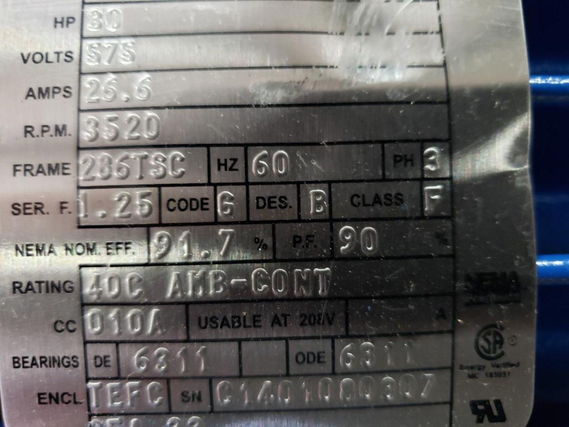 30HP Baldor Reliance 3PH motor. 2013000110. 575V, 3520RPM, 286TSC-Frame. - Image 5 of 12