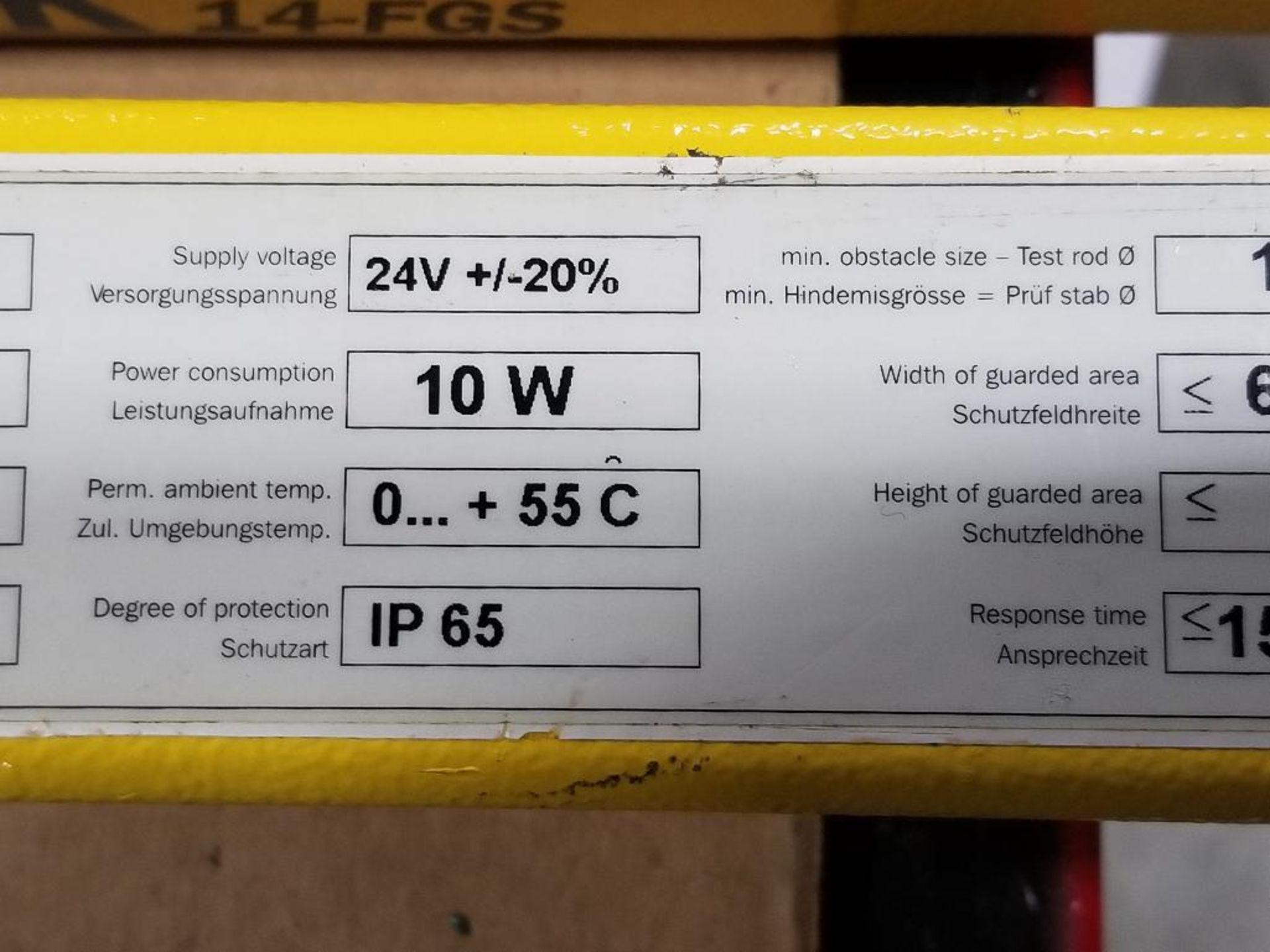 SICK Light curtain transmitter / receiver set. 14-FGS 1-012-767, 1-012-768. - Image 7 of 11