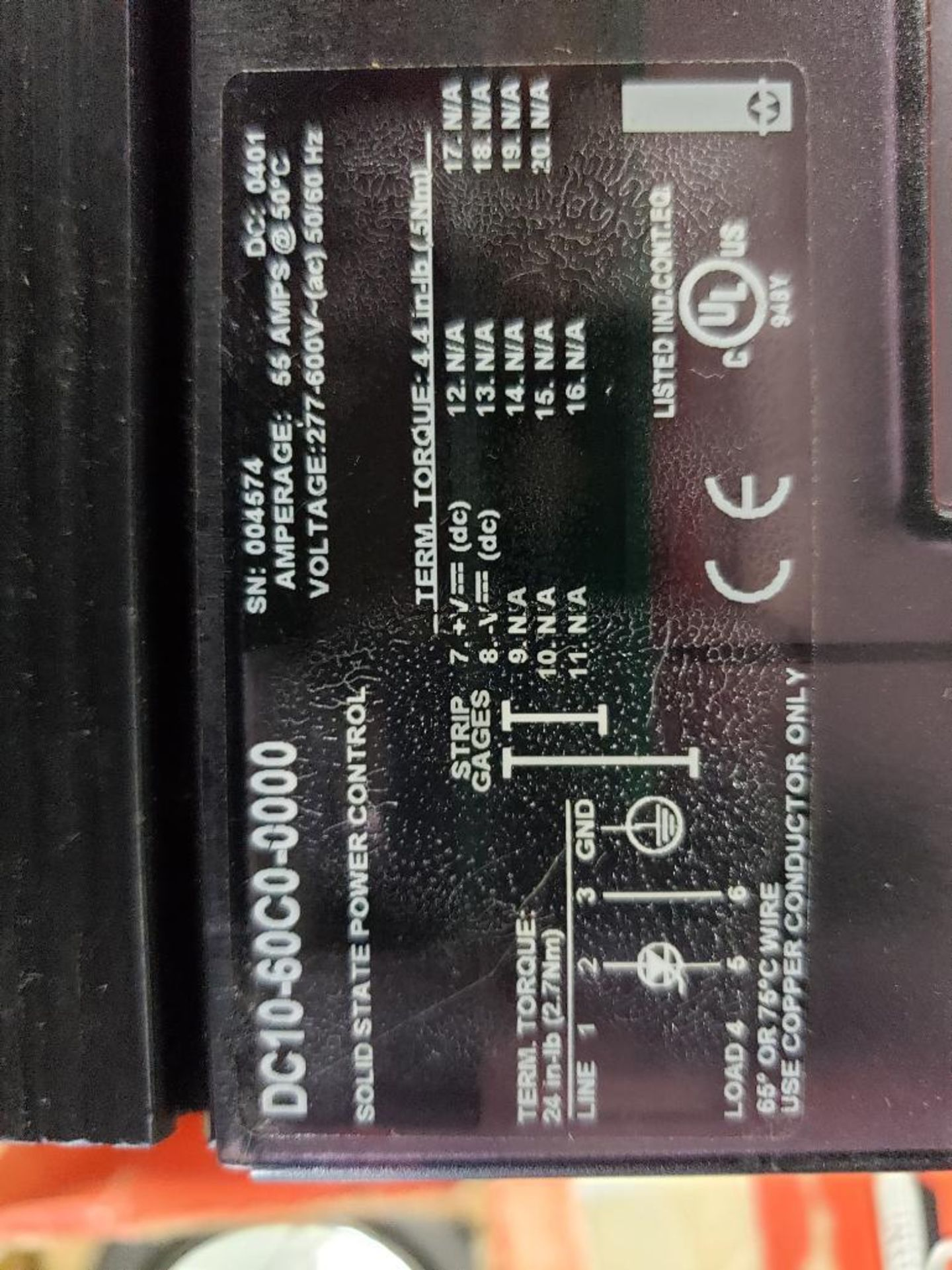 Qty 2 - Watlow DIN-A-Mite DC10-60C0-0000 power controller. - Image 4 of 5