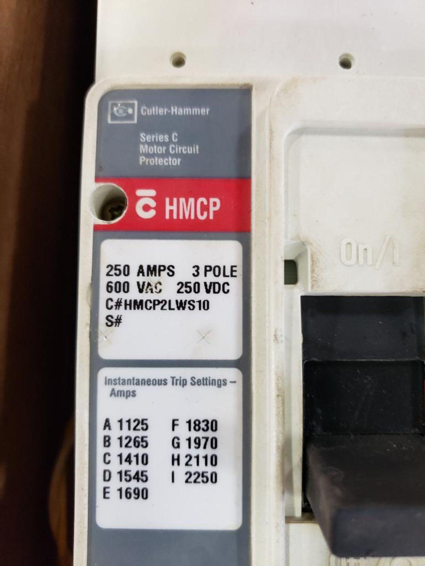 Cutler Hammer CHMCP HMCP2LWS10 250AMP Molded case breaker. - Image 2 of 4