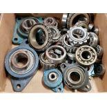Assorted bearings, pillow block bearings. McGill.