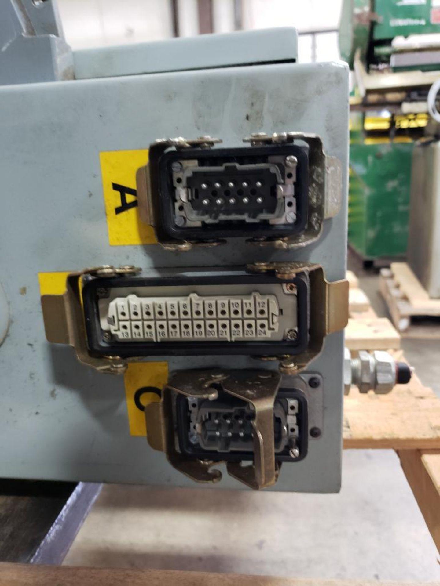 Chiller control cabinet. Hoffman enclosure, Cutler Hammer AF93AG0B007D drive, Allen Bradley drive. - Image 8 of 35