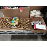 1/2 Pallet of assorted parts. Fuse adapters, plugs, switches. Pass & Seymour, Buss.