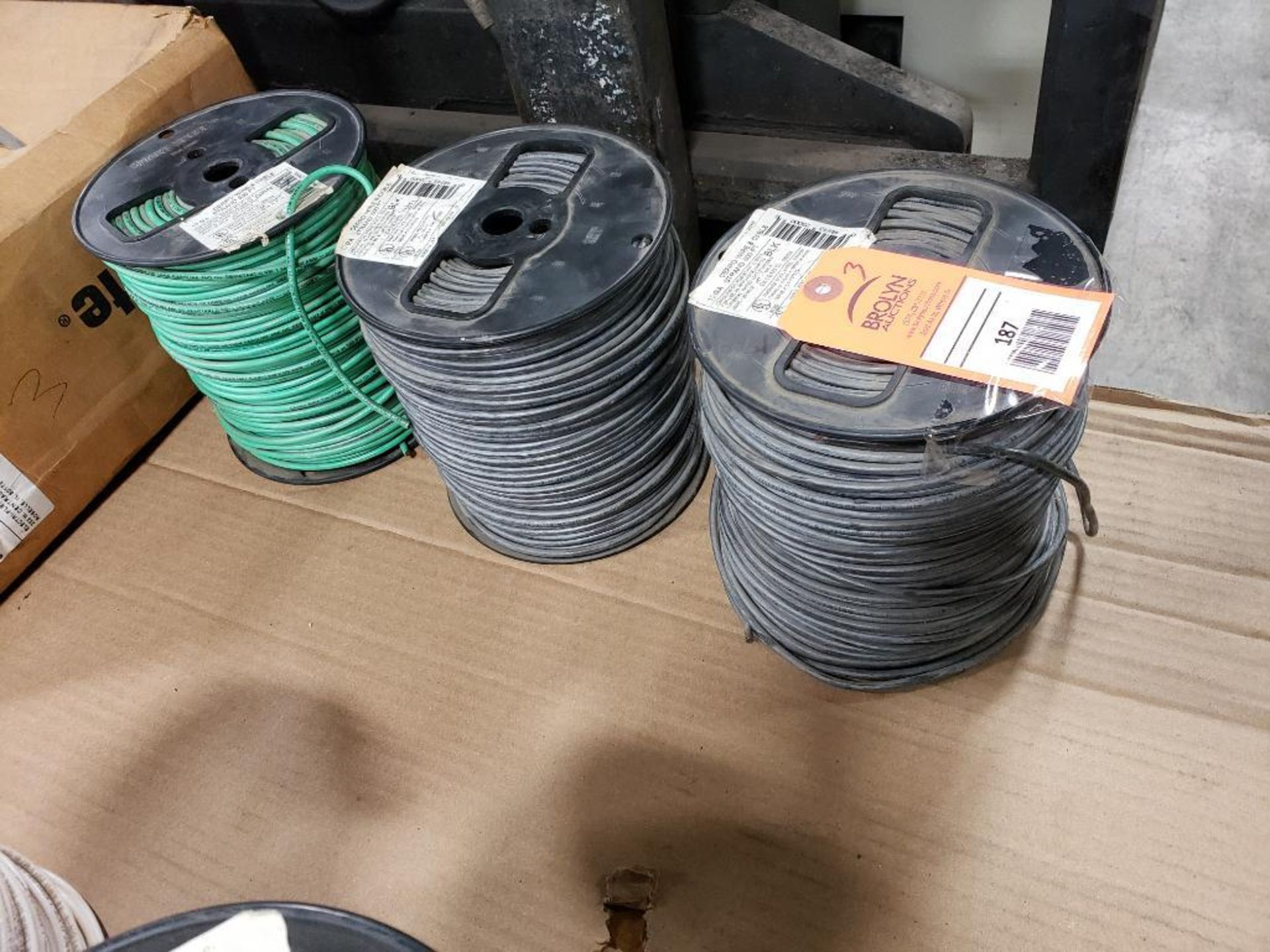 Qty 3 - Spool of CERRO contractor wire. 10GA-Black, 10GA-Green. - Image 5 of 5