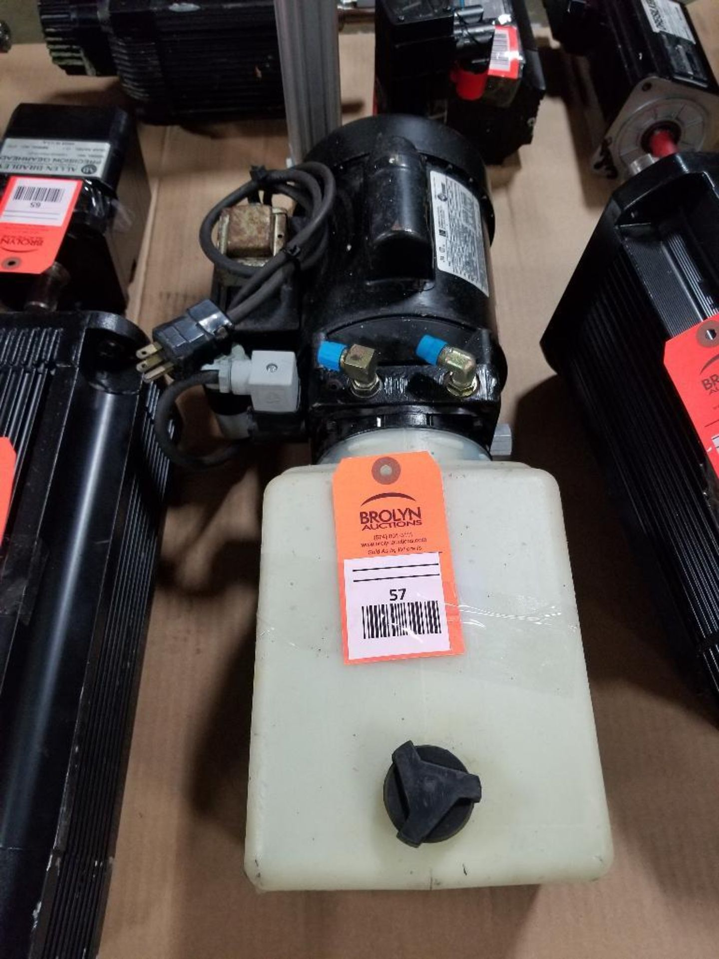 1/2HP Fenner Emerson 2975-BC pump motor. 1PH, 115/208-230V, 1725RPM. XE56CZ-Frame. - Image 3 of 5
