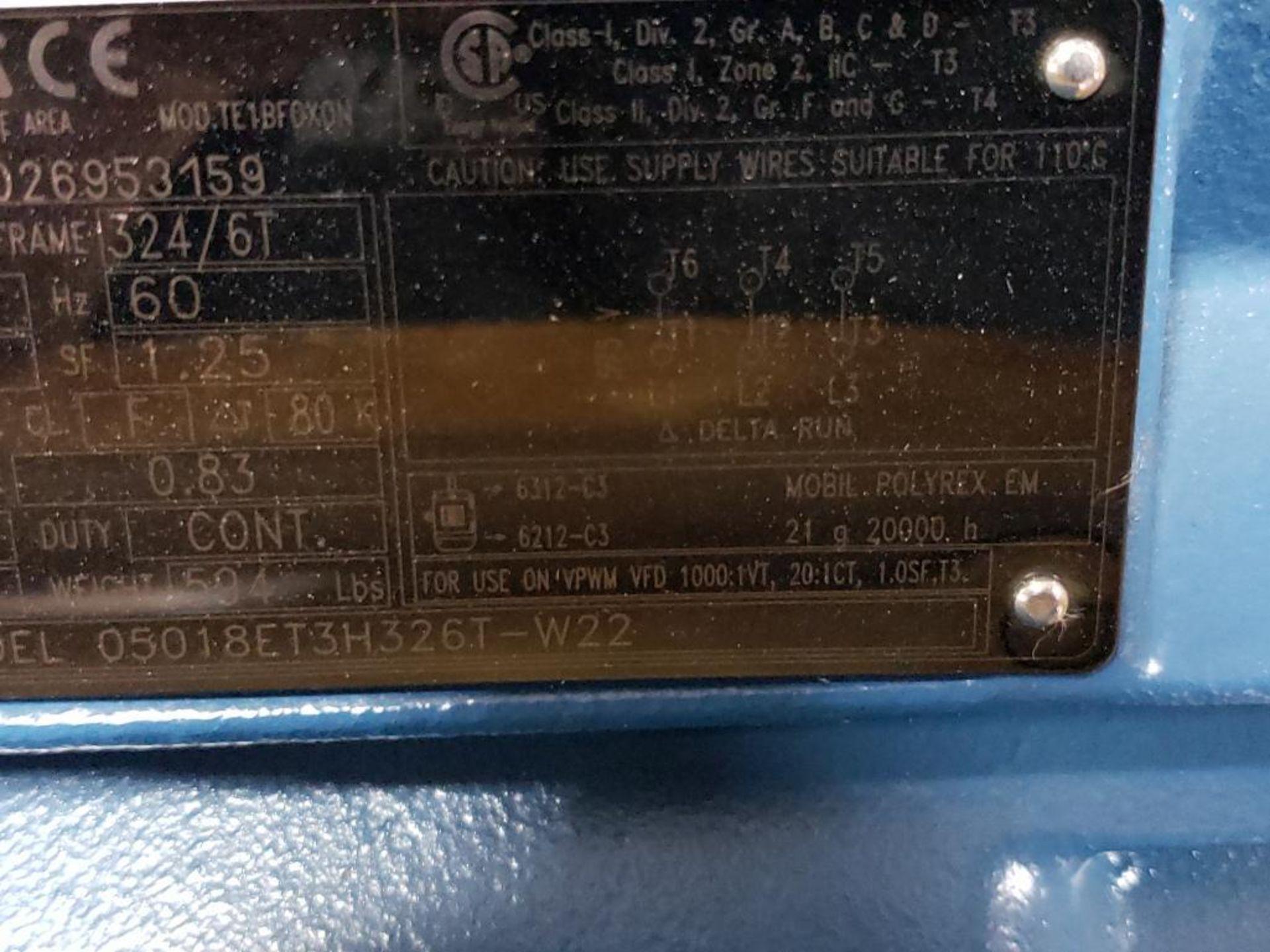 50HP WEG 3PH Inverter Duty Motor. 23ENE2015. 575V, 1775RPM, 324/6T-Frame. - Image 5 of 8