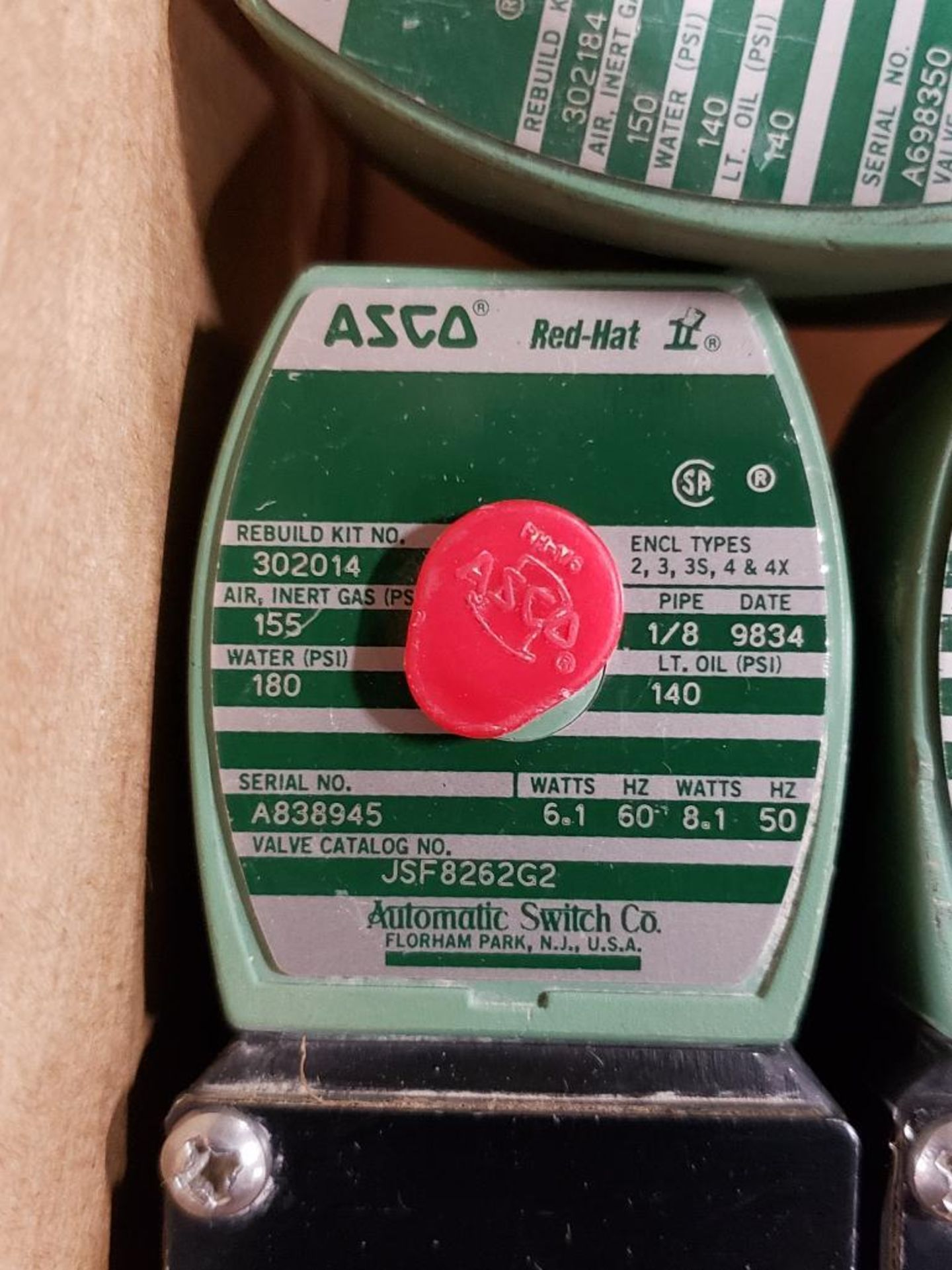 Qty 6 - Assorted ASCO solenoid coil. - Image 5 of 8