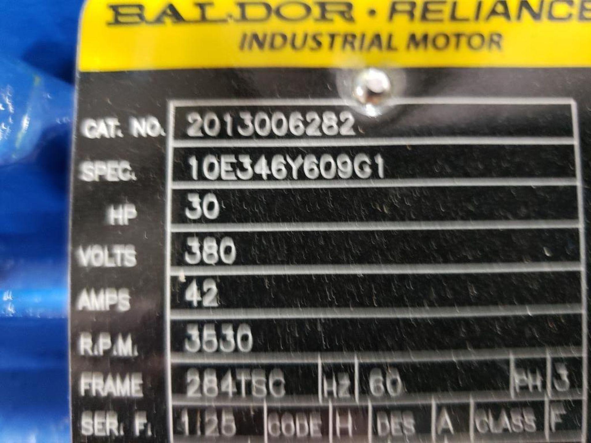 30HP Baldor Reliance 3PH motor. 2013006282. 380V, 3530RPM, 284TSC-Frame. - Image 4 of 8